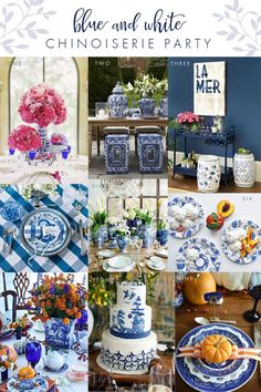 Set the table in blue and white chinoiserie! My kind of party!