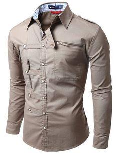 Doublju mens shirts zipper point casual button down shirts, stiles, urban outfits, cool Urban Apparel, Moda Men, Mens Kurta Designs, Only Shirt, Mens Designer Shirts, Camisa Formal, Embroidered Sweatshirts, Formal Shirts, Urban Outfits