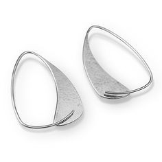 Triangle Hoops by Susan Panciera: Silver Earrings available at www.artfulhome.com