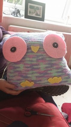My first completed owl pillow.