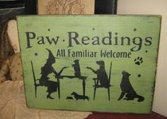 Paw+Readings+Witch+With+Dog+Puppies+by+thehomespunraven+on+Etsy,+$26.00