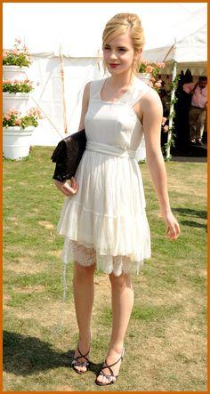 Emma Watson at the Cartier International Polo