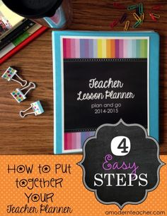 Teacher Planner in 4 Easy Steps