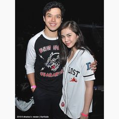 This is Elmo Magalona and Janella Salvador smiling for the camera during the rehearsals of ASAP Live in New York at the Barclays Center in New York City last September Inigo Pascual, Enrique Gil, Daniel Padilla, Star Magic, Liza Soberano, Jadine, Living In New York, Elmo, Adidas Jacket