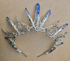 The BLUE VENUS Crown - Crystal Quartz Crown Tiara - Magical Headpiece. Alternative Bride, Festival, Game of Thrones! by HowlingMoonUK on Etsy https://www.etsy.com/listing/519422751/the-blue-venus-crown-crystal-quartz