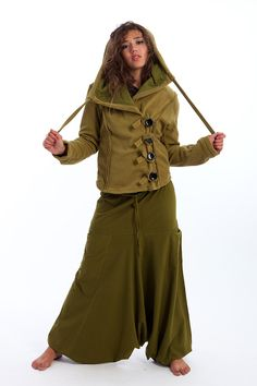 Fleece jacket with large hood £39.99 by GEKKO BOHOTIQUE  Goa Trance,Steampunk,Psytrance,Hippie,Boho,Tribal festival clothing. Pocket belts, hats and wrists Warmers.Come visit our shops in Camden and Greenwich Markets