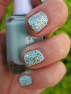 Use glitter glue pens for nail polish sparkle.