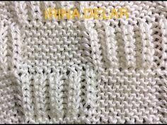 Baby blanket knit pattern. Узор спицами детского одеяла. - YouTube