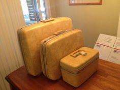 Vintage Retro 3 Piece Samsonite Sillouette Luggage In Yellow, Nice! $25