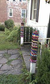http://www.ravelry.com/projects/KathyMichael/yarn-bombing