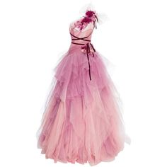 Georgina Chapman and Keren Craig continued to weave a good Far East story book at today's Marchesa express. Tulle Ball Gown, Tulle Dress, Pink Dress, Ball Gowns, Pink Tulle, Pink Evening Gowns, Pink Gowns, Lovely Dresses, Beautiful Gowns