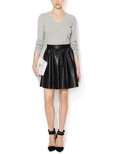 Faux Leather Skater Skirt by Alex + Alex at Gilt