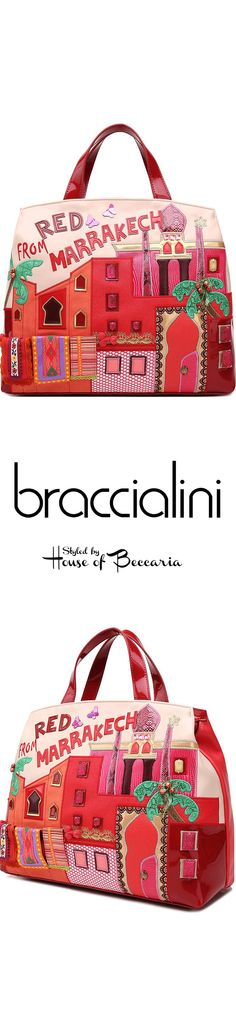 """~2015 Braccialini of Italy """"Red Marrakesh"""" Bag 