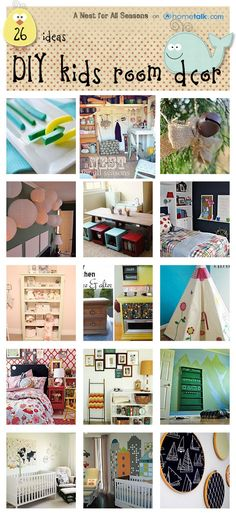 Want to create a fun and fabulously chic room for your little one? Here are 26 Inspiring Kid's Room Ideas to get you started!