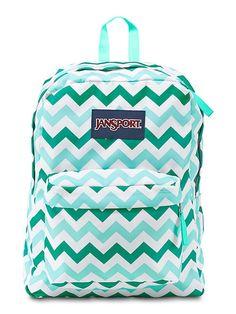 New JanSport Chevron Blue, Aqua, Teal print SuperBreak backpack available on JanSport.com