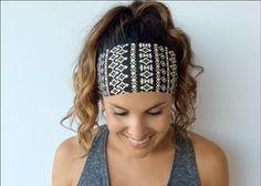Yoga Headband Workout Headband  Running by TrueNorthCollection