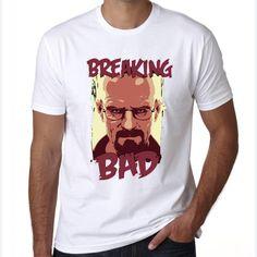 men cool walter white printed tshirt Jesse Pinkman t shirt Breaking Bad Shirts Walter White heisenberg t-shirts  #Affiliate