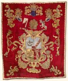 Wall hanging with Tęczyński coat of arms of by Anonymous from Poland, 17th century, Muzeum Diecezjalne w Sandomierzu