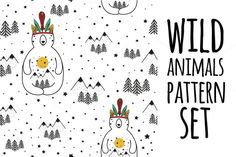 13 nature and animals pattern set by julymilks on @creativemarket