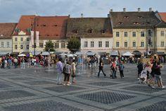 Big Square in Sibiu Romania, Louvre, Street View, Big, Building, Travel, Viajes, Buildings, Destinations
