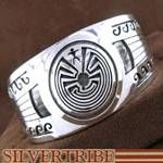 Native American Navajo Indian Calvin Peterson Water Waves Man In The Maze Bracelet