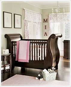 I like the green walls with the pink and brown decor!!  I just may found my wall color for the nursery:))