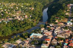 View of Santa Elena town and San Ignacio town. There is the San Ignacio Resort Hotel! (top right building). We are situated in such a beautiful place.