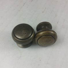 Pair of Solid Brass Knobs SKN102 by GadoGadoLtdEdition on Etsy