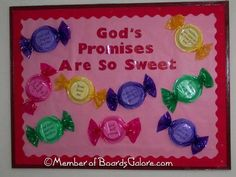 God's Promises are Sweet! #God'sPromises #BulletinBoards #BibleVerses
