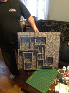 This is a pictorial guide of a magnetic 3d dungeon