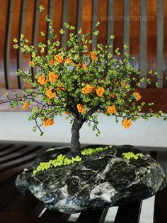 Orange tree II by beads-poet.deviantart.com on @deviantART
