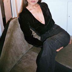 deep V velvet blouse — curated by ajaedmond.com | capsule wardrobe | minimal chic | minimalist style | minimalist fashion | minimalist wardrobe | back to basics fashion