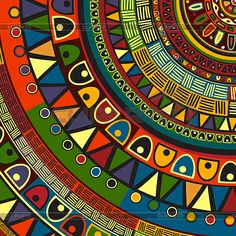 Illustration about Colored tribal design, abstract art. Illustration of geometric, batik, backdrop - 38303680 African Tribal Patterns, African Colors, African Textiles, African Fabric, Afrique Art, African Art Paintings, African Abstract Art, Illustration Vector, Truck Art