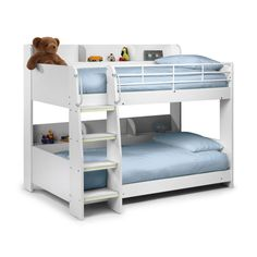 Buy Julian Bowen  Domino White Bunk Bed from Furniture123 - the UK's leading online furniture and bed store