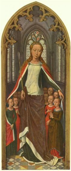 Hans Memling, St. Ursula and her companions, from the Reliquary of St. Ursula, 1489
