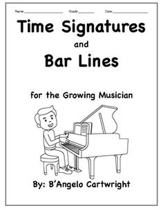 This collection of music worksheets focuses on Time Signatures and Bar Lines. This collection is simple enough for students to easily grasp yet gives enough of a challenge for students to still feel engaged. The time signatures used for this are 2/4, 3/4 and 4/4.