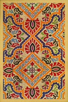 Moroccan textile design from Soieries Marocaines, Les Ceintures de Fès, 1921 (deckerlibrary)