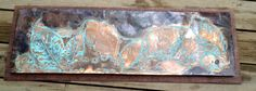 Copper Wall Art   Blue Green Patina  Hydrangea leaves by CopperByT