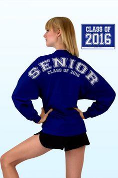 Senior - Class Of 2016 - Classic Crew Neck Spirit Jersey®