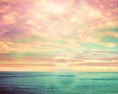 Pastel sea-scape