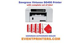 Introducing SAWGRASS VIRTUOSO SG400 sublimation printer with complete set of Sawgrass inks. Great product and follow us for more updates!