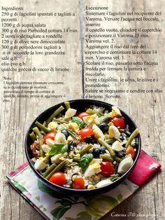 insalata di riso uova e fagiolini