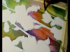 Watercolor painting - Negative painting - YouTube