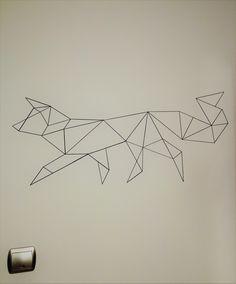 #homedecor #diy #handmade #madeinhome  #projects #gifts #geometric #fox #wall #origami
