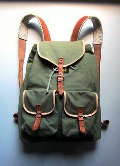Wunderbarer Wanderrucksack   Leder + Segeltuchstoff   Vintage   Retro   Unitasche   Blogger