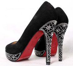 Christian Louboutins studded heels