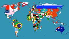 O mapa e suas bandeiras