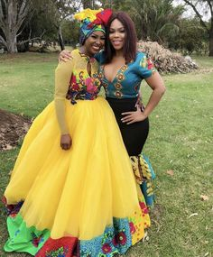A bride with a friend #Tsonga #TsongaTradition #XiTsonga