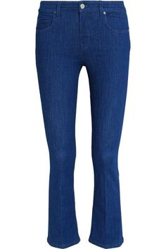 Victoria, Victoria Beckham - Cropped Mid-rise Bootcut Jeans - Blue - 25