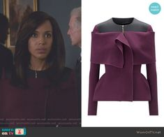 f7d42f5d10e98f Olivia's purple and black jacket on Scandal. Outfit Details: https:// wornontv